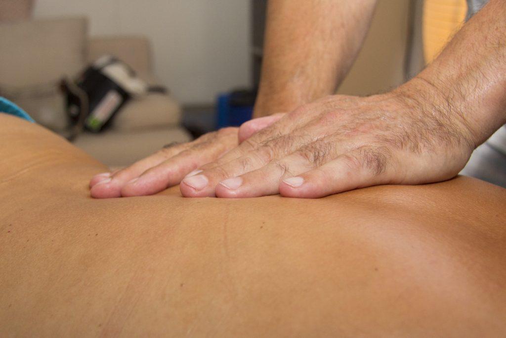 Massage van de rug
